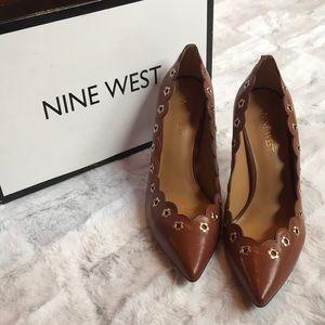 BNIB Nine West Floral Leather Heels